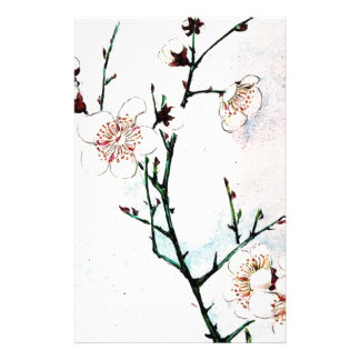 Plum Branches with Blossoms Ukiyo-e Asia Asian Art Stationery