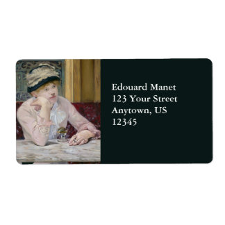 Plum Brandy by Edouard Manet Shipping Label
