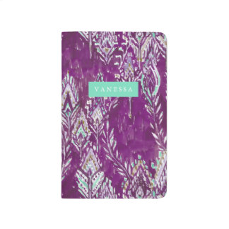 Plum Brave Feather Tribal Print Journal