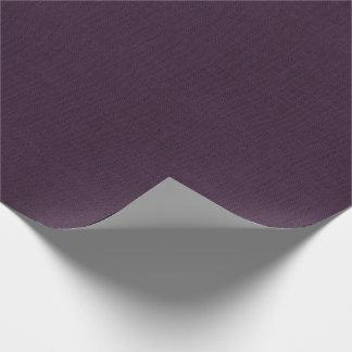Plum Burlap Texture Wrapping Paper