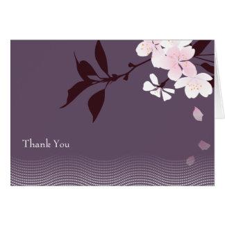 Plum Cherry Blossom Note Card