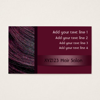 Plum Color Hairdresser Appointment Cards
