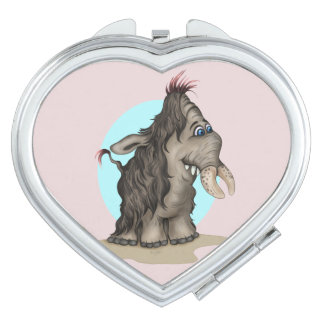 PLUM CUTE CARTOON compact mirror HEART