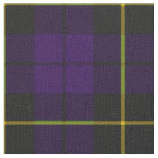 Plum dark purple and black plaid fabric