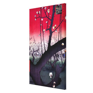 Plum Estate Kameido, Hiroshige Ando Canvas Print