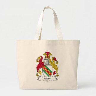 Plum Family Crest Bags