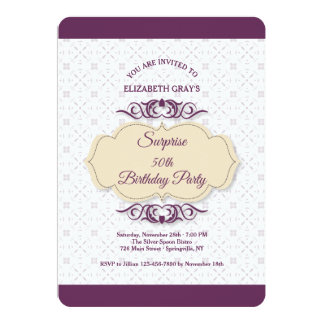 Plum Fantasy Invitation