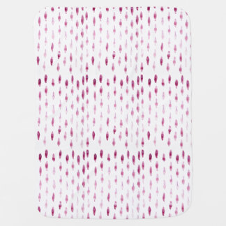 Plum Feathers Baby Blanket