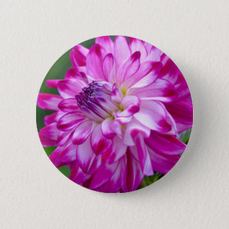 Plum Flora 2 Inch Round Button