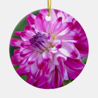Plum Flora Ceramic Ornament