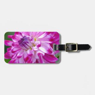 Plum Flora Luggage Tag