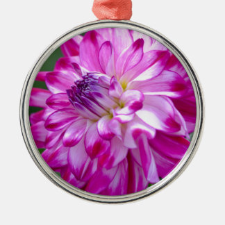 Plum Flora Metal Ornament