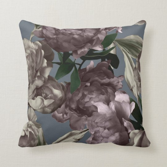 Plum Floral Blend Decorative Pillow