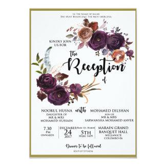 plum floral card