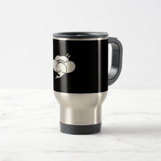 Plum flower of crane type travel mug