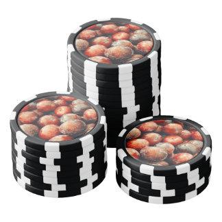 Plum fruit pattern poker chips