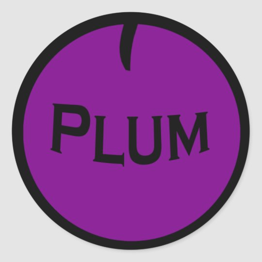 Plum Fruit Sticker