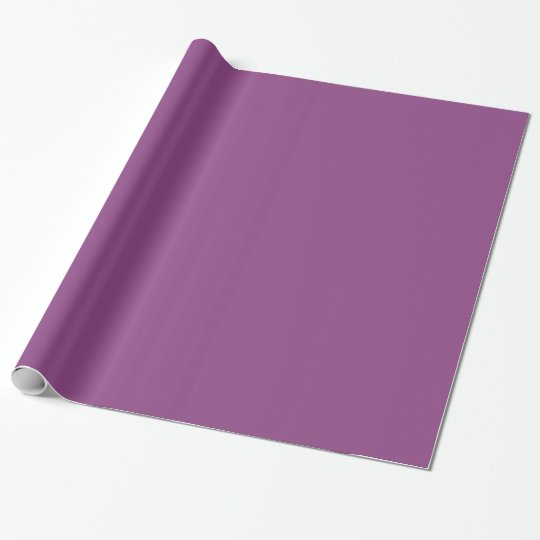 Plum Glossy Wrapping Paper