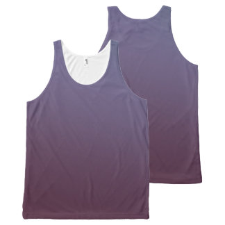 Plum Gradient All-Over-Print Tank Top