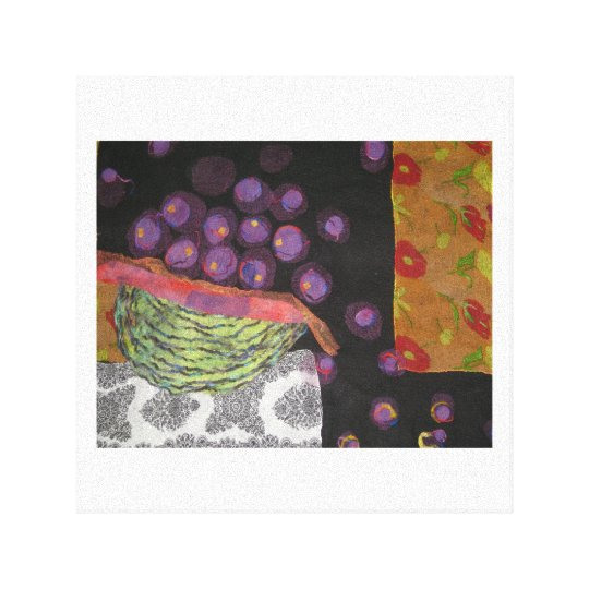 Plum Harvest Canvas Print