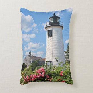 Plum Island Lighthouse Massachusetts Accent Pillow