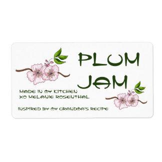 Plum Jam Jar Label (Customize) Shipping Label