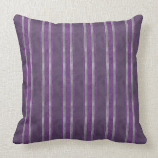 Plum Lavender Steel Stripes Throw Pillow