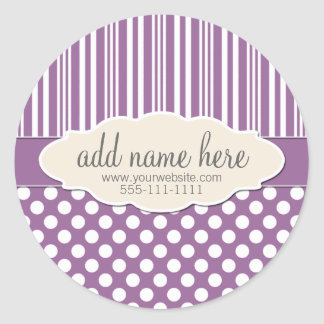 Plum / Light Purple Product Label