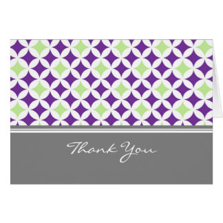 Plum Lime Gray Baby Shower Hostess Thank You Card