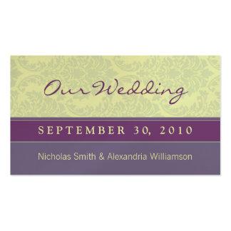 Plum Love Full-Size Wedding Website Business Card