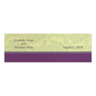 Plum Love Wedding Website Card Mini Business Card