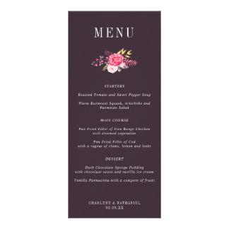 Plum Luscious Botanicals Floral Wedding Menu