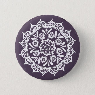 Plum Mandala 2 Inch Round Button