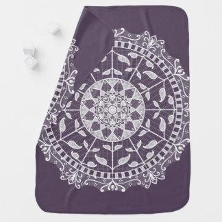 Plum Mandala Baby Blanket