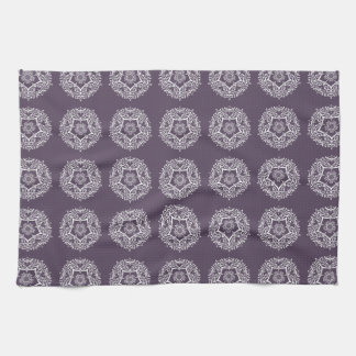 Plum Mandala Kitchen Towel