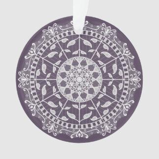 Plum Mandala Ornament