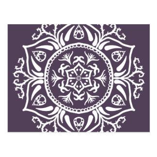 Plum Mandala Postcard