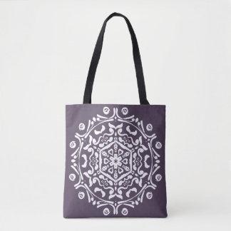 Plum Mandala Tote Bag