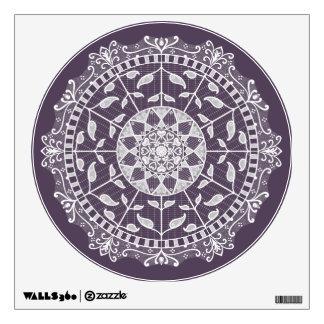 Plum Mandala Wall Sticker