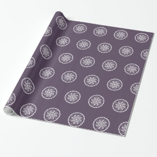 Plum Mandala Wrapping Paper