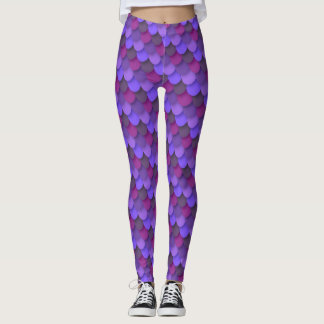 Plum Mermaid Scales Leggings