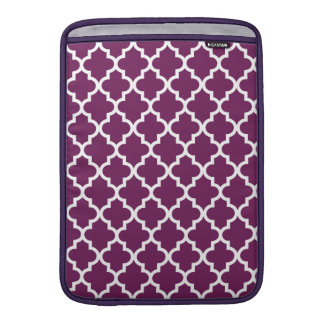 Plum Moroccan Pattern Sleeve For MacBook Air