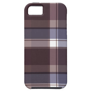 Plum Multi Plaid iPhone 5 Case