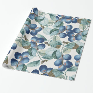 Plum Pattern Wrapping Paper