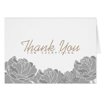 Plum Peony | Thank You Card