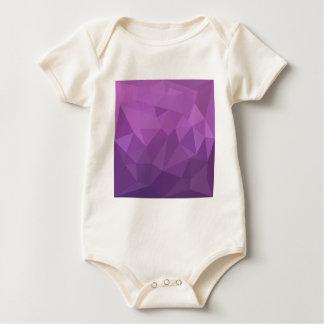 Plum Purple Abstract Low Polygon Background Baby Bodysuit