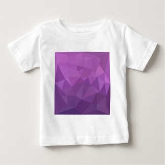 Plum Purple Abstract Low Polygon Background Baby T-Shirt