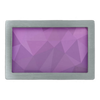 Plum Purple Abstract Low Polygon Background Belt Buckles