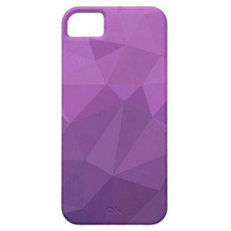 Plum Purple Abstract Low Polygon Background iPhone 5 Cases