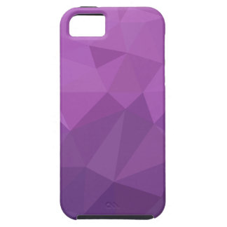 Plum Purple Abstract Low Polygon Background iPhone 5 Covers